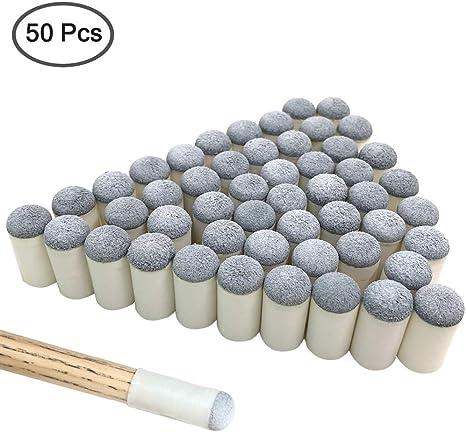 YuCool - Puntas de Repuesto para Tacos de Billar (50 Unidades, 13 mm): Amazon.es: Deportes y aire libre