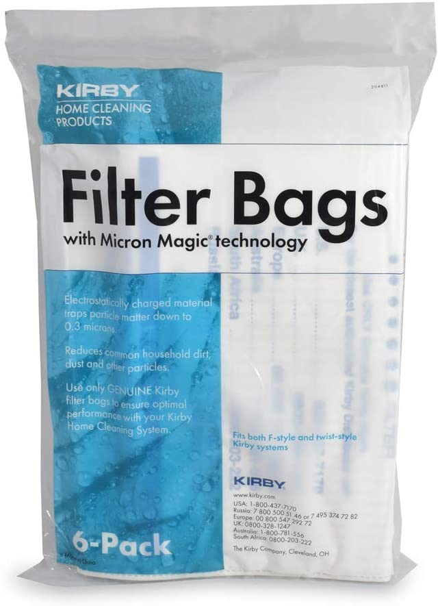 Kirby Filter Bags with Micron Magic technology (6 Pack) -