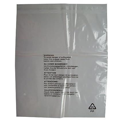 100 bolsas de embalaje con advertencia de seguridad, cierre ...
