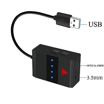 YETPR Transmisor de audio Bluetooth 4.0 Audio para Smart TV XBOX PS4 Bose JBL B&W con