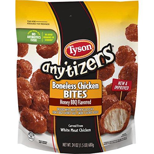 (Tyson Any'tizers Honey BBQ Boneless Chicken Bites, 24 oz. (Frozen))