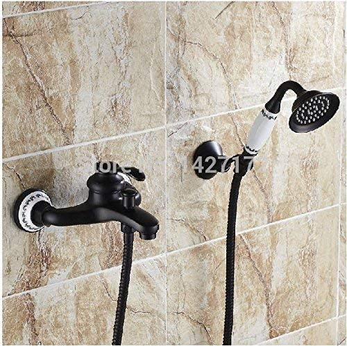 八瀬・王 蛇口卸売小売振興バスオイルラビングブロンズ高級セラミックスタイルのシャワーの蛇口のミキサーのタップ、ブラック