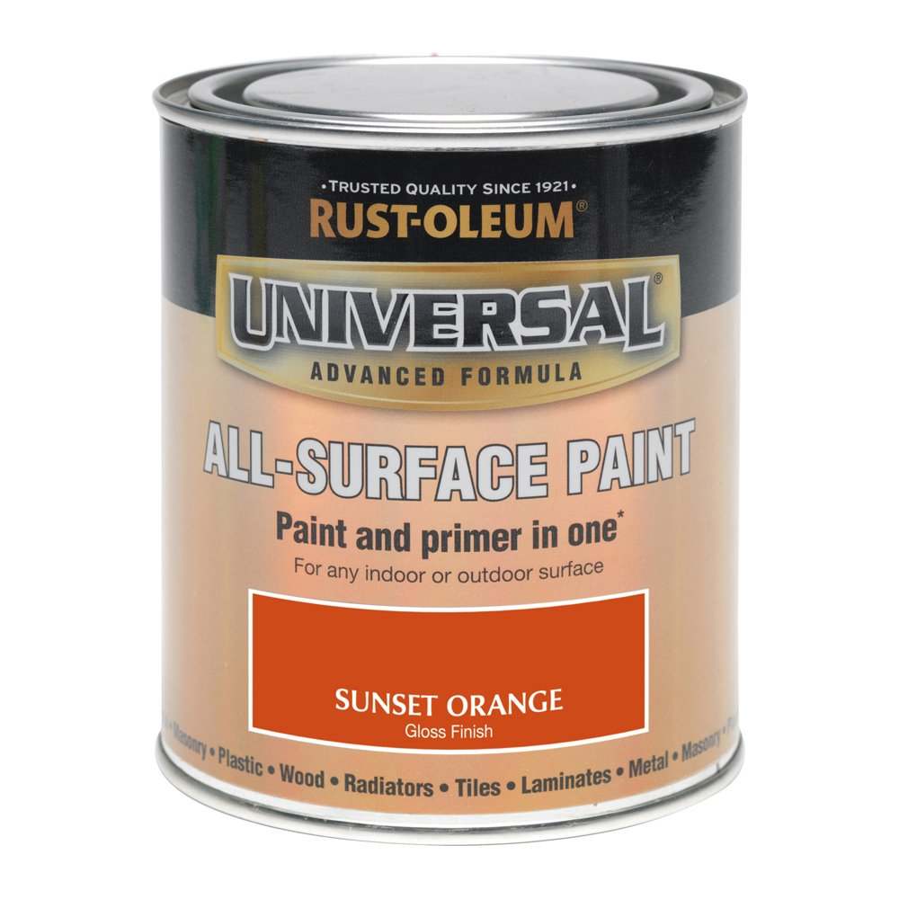 Rust-Oleum 750ml Universal Paint - Gloss Sunset Orange AMZ0095