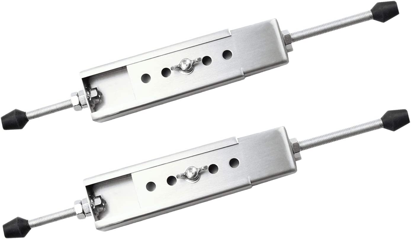 """Sidasu Adjustable Window Security Bar a Pair of Security Window Lock Wedge Extends from 8 1/2"""" to 25"""" for Sliding Windows with AC Unit"""