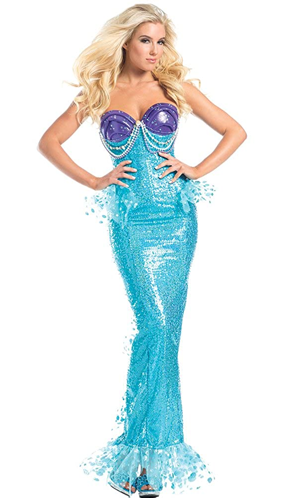 Women's 1-Piece Under the Sea Mermaid Costume Gown - DeluxeAdultCostumes.com
