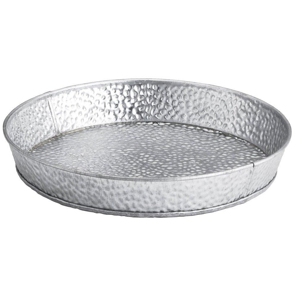 TableCraft Products GP8 Round Dinner Platter, Galvanized, 8.5