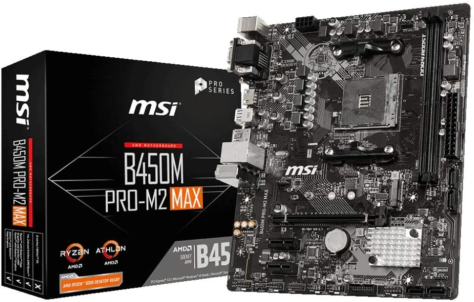 MSI B450M Pro M2 Max AMD B450 AM4 Micro ATX DDR4-SDRAM Motherboard