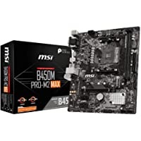 MSI B450M PRO-M2 MAX Motherboard mATX, AM4, DDR4, LAN, USB 3.2 Gen1, M.2, VGA, DVI-D, HDMI, AMD RYZEN 1st, 2nd and 3rd…