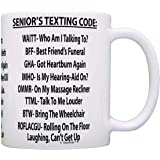 Retirement Gag Gift Senior's Texting Code Office Humor Coworker Gag Gift Coffee Mug Tea Cup White by ThisWear