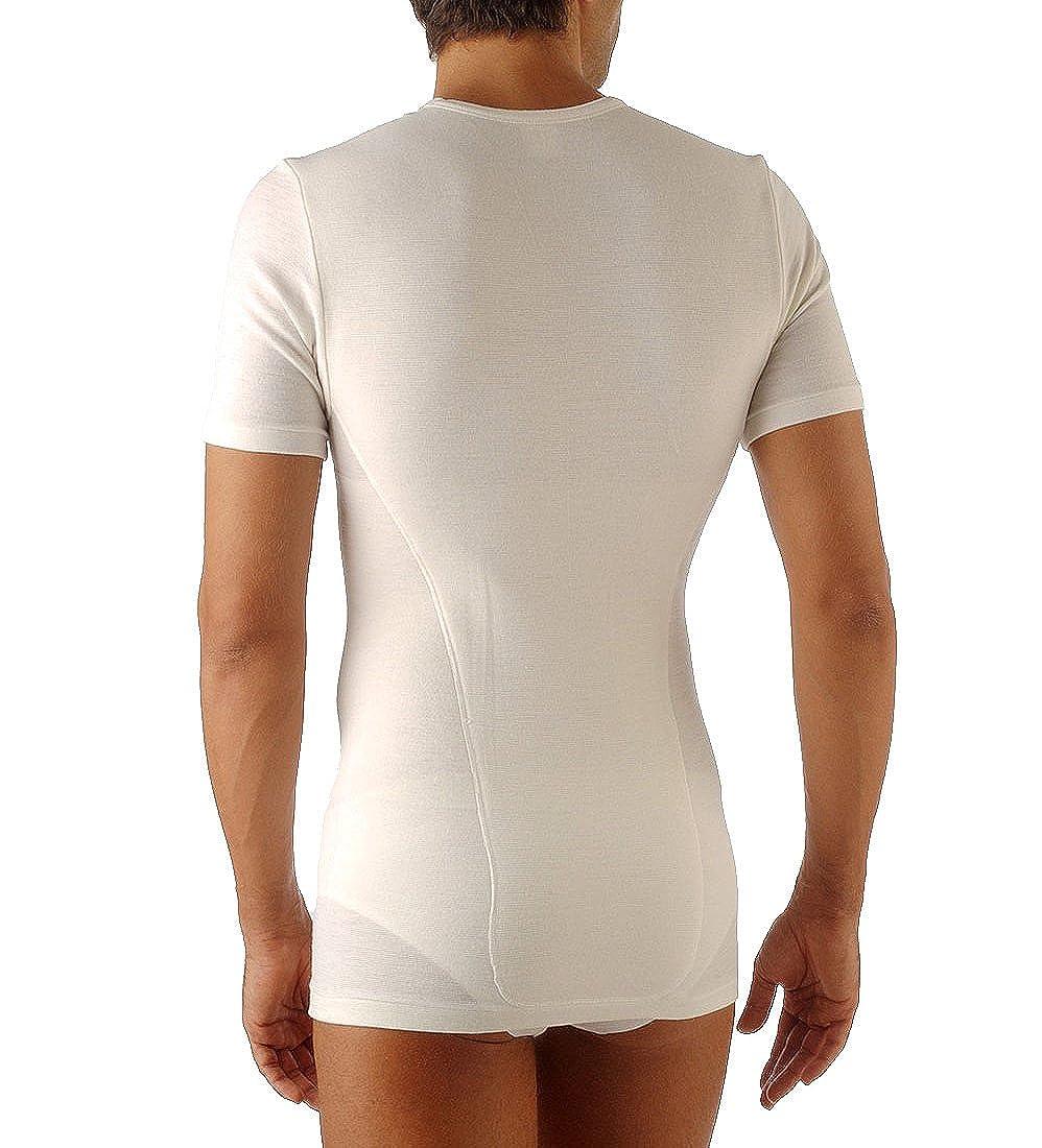 Relaxsan Ortopedica 1200D T-Shirt maglia termica uomo doppio tessuto lana cotone con fascia lombare e vertebrale GT Calze