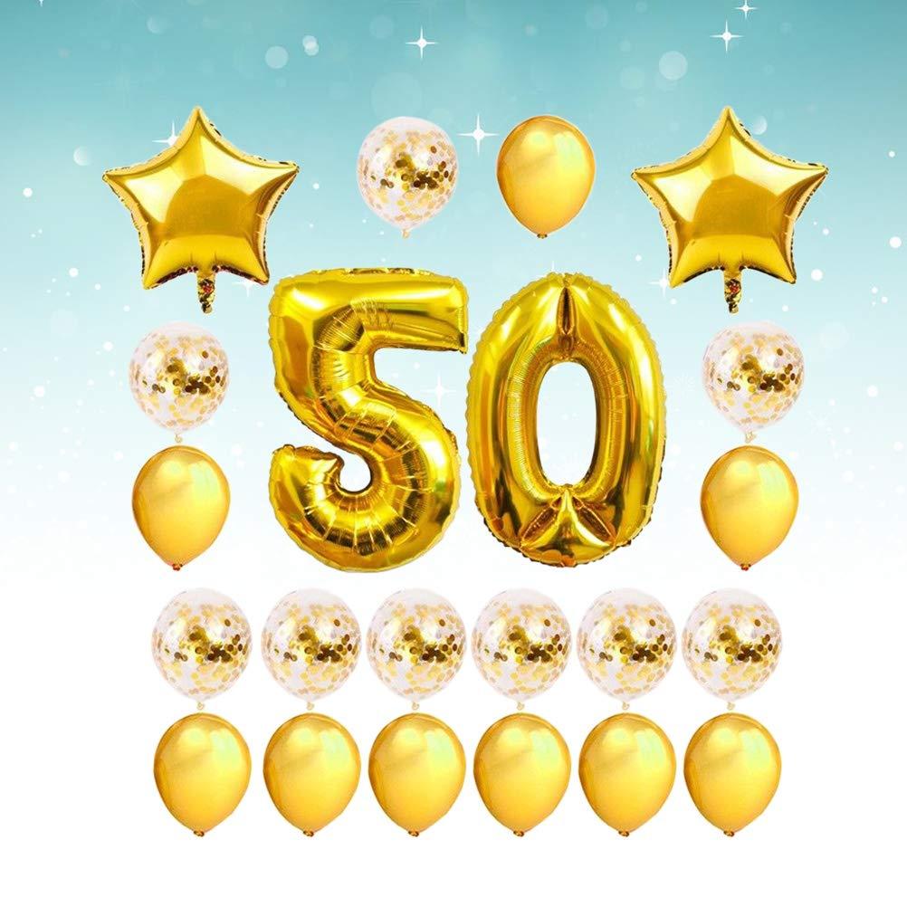 Amosfun 24 Piezas 50 cumpleaños Globos de decoración ...