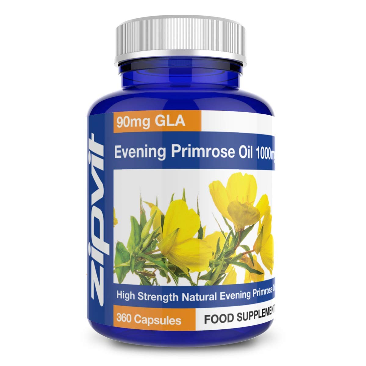 Evening Primrose Oil 1000mg. 360 Capsules. Omega 6 90mg. 12 Months Supply.