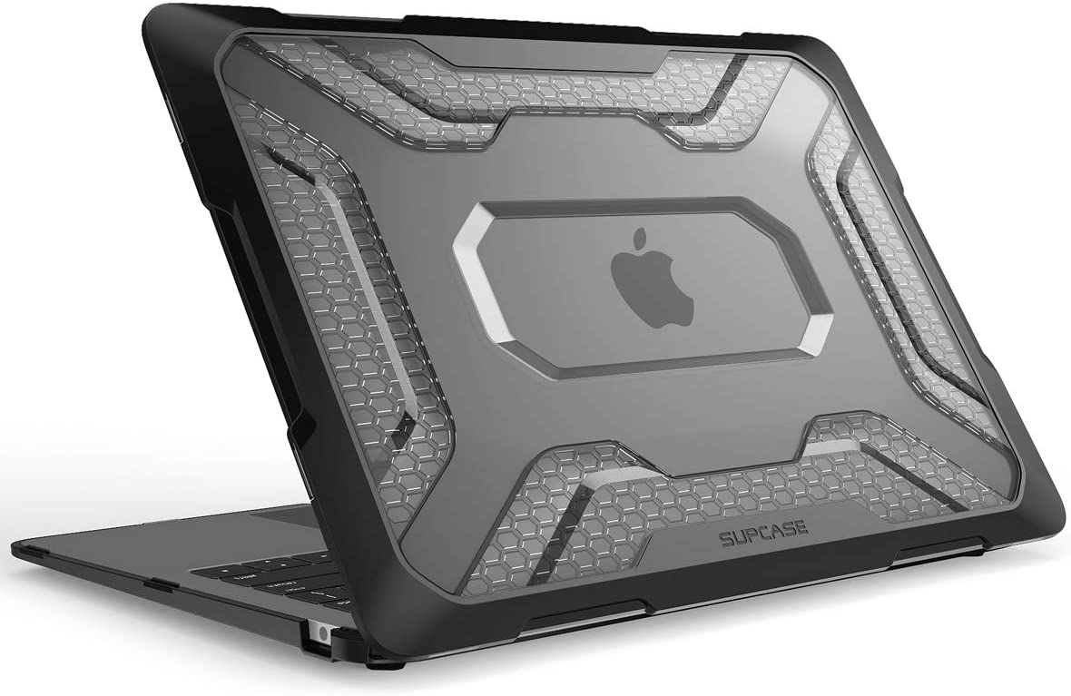 SUPCASE [Unicorn Beetle Series] Case for New MacBook Air 13 Inch 2018 Release, Slim Rubberized TPU Bumper Cover for 2018 MacBook Air 13 Inch A1932 with Touch ID and Retina Display (Black/Frost)