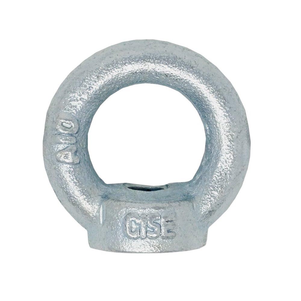 DIN 582 Charge maximale/: 140 kg En acier galvanis/é Lot de 5 anneaux de levage M8