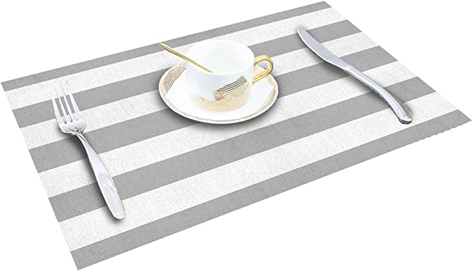 Details about  /S4Sassy Stripe /& Triangle Geometric Placemats With Napkins Table Decor-GMD-606J
