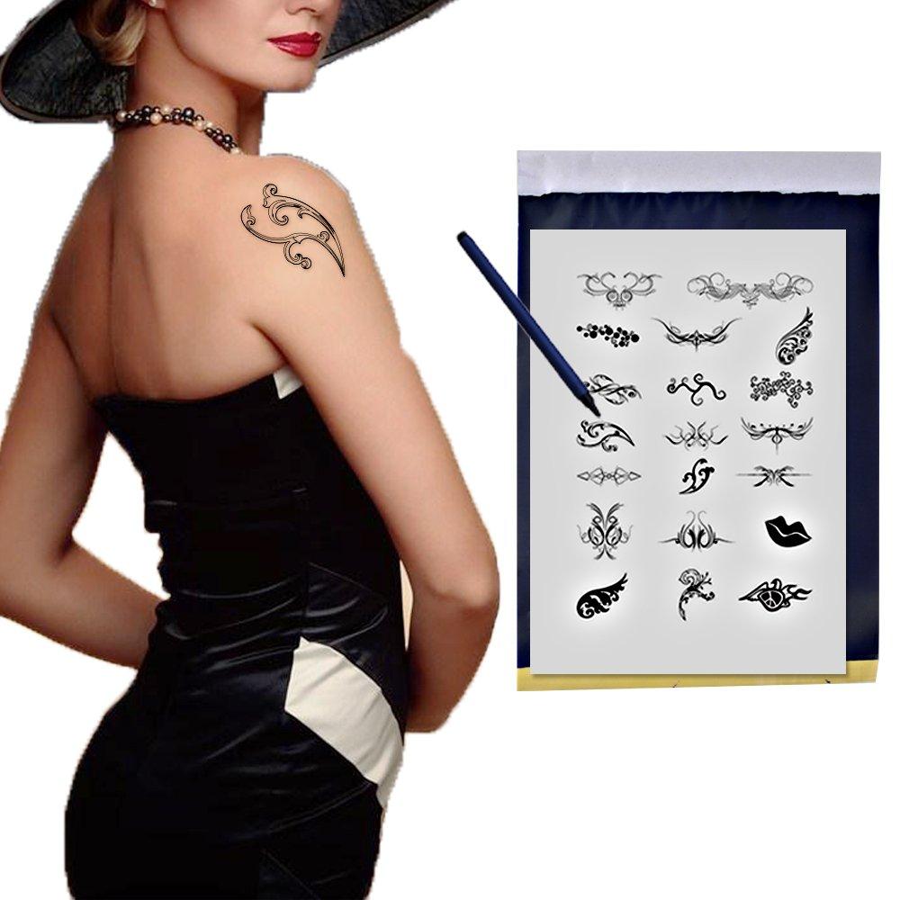25Pcs Papeles para la Transferencia del Tatuaje Hectógrafo de ...
