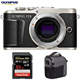 Olympus V205090BU000 PEN E-PL9 16.1 MP Wi-Fi 4K Mirrorless Camera Body (Onyx Black) w/Sandisk 32GB Extreme PRO SDXC UHS-1 Memory Card + Tamrac Tradewind 2.6 Shoulder Bag (Dark Gray)