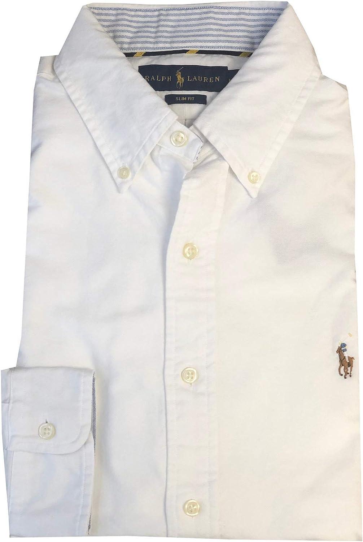 Ralph Lauren Mens Slim Fit Pony Logo Oxford Shirt