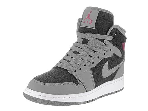 size 40 90b10 c5e41 Nike Jordan Kids Air Jordan 1 Retro High Gg Cool Grey Vivid Pink Black  Basketball Shoe 7.5 Kids US  Amazon.ca  Shoes   Handbags