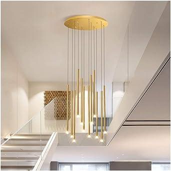 Lámpara colgante de luces, iluminación LED Escalera Lámpara de araña Bola de cristal Multi-lámpara Moderna