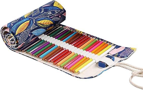 Estuche de lona multiusos enrollable para lápices: Amazon.es: Bricolaje y herramientas