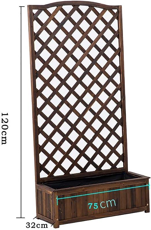 FPigSHS Soporte para Flores Estante para macetas Rejilla para estantes Escalada de la pérgola Soporte para macetas Valla de Madera Maceta al Aire Libre Balcón Patio Madera anticorrosiva: Amazon.es: Hogar
