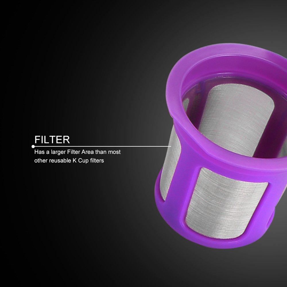 Cápsulas reutilizables para café, filtro para cápsulas recargables fornorm con cuchara compatible con la máquina de café Keurig 2.0 Pack of 2X violeta: ...