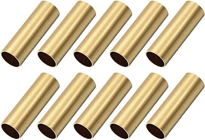 Brass Round Tube 3mm OD 0.5mm Wall Thickness 30mm Length for DIY Crafts 10 Pcs