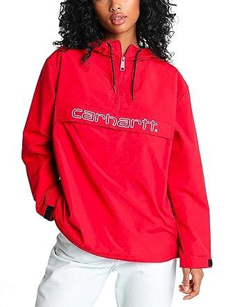 Carhartt Canguro Script Mujer Cardinal/White: Amazon.es ...