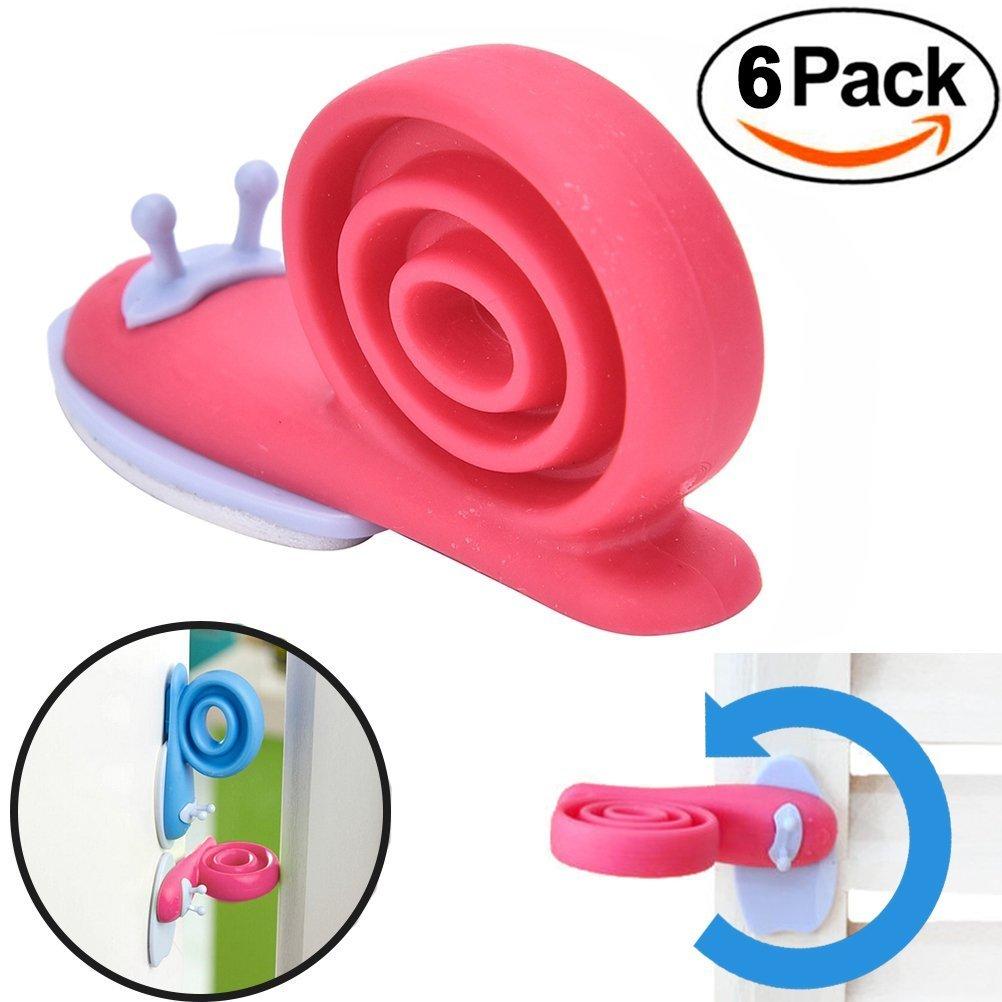 Tykusm Forme d'escargot 360° réglable pour bébé enfants Sécurité Protector Butée de porte Butée de porte (couleur aléatoire)