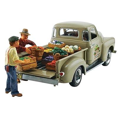 Woodland Scenics Autoscene Paul's Fresh Produce Pickup Truck w/Figures HO Scale: Everything Else