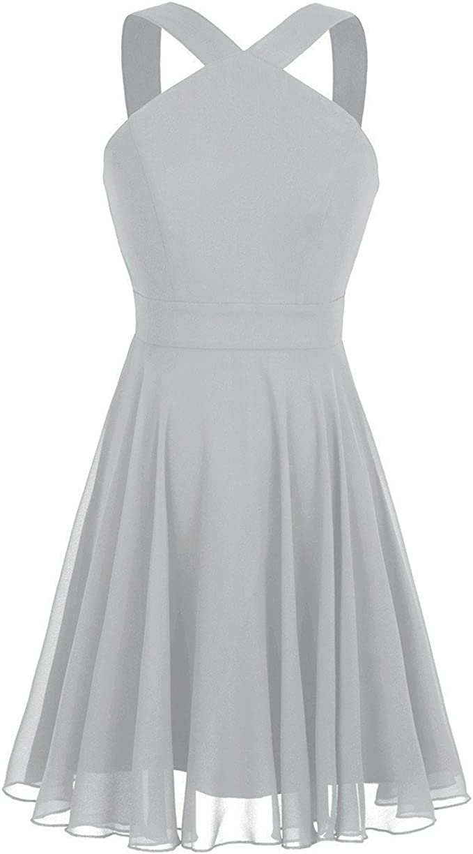 Laisla fashion Damen Kleid Elegant Kurz Partykleid Cocktailkleid