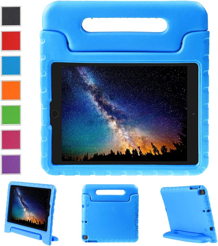NEWSTYLE Kids Case for iPad 9.7 inch 2017/2018 Shockproof Stand Cover with Built-in Handle for Children for Apple New iPad 9.7-inch 2017 2018 (Blue)