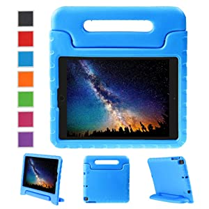 NEWSTYLE Apple iPad Air 2 Case Shockproof Case Light Weight Kids Case Super Protection Cover Handle Stand Case for Kids Children For Apple iPad Air 2 (2014 Released) - Blue Color