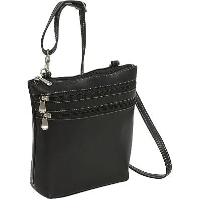 Le Donne Leather Cross Body Zip Bag (Black)  Handbags  Amazon.com 8b41c5c7144f1