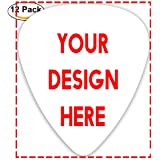Custom Guitar Picks Plectrums 12-pack 0.46mm / 0.71mm / 0.96mm Add Your Own Text Name Personalized Message Image Stylish Colo