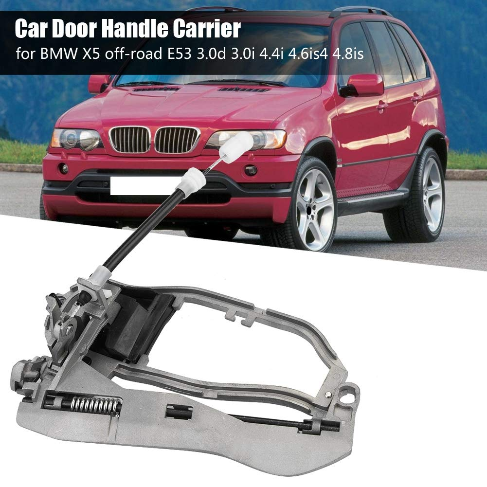 EBTOOLS Car Door Handle Carrier,Placement on Vehicle Front Left//Front Right//Rear Left//Rear Right,for X5 E53 Assembly Replacement,51218243615,51228243635, 51218243616 Rear Left