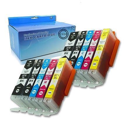 10 x caidi Compatible para Canon PGI-570 CLI-571 cartucho de tinta ...