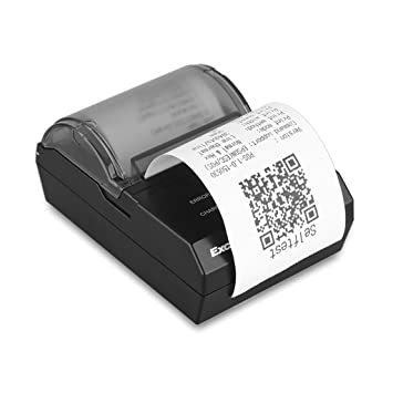 Excelvan Hop E200 - Impresora Térmica de Recibos y Billetes (Bluetooth Inalámbrico , Portátil, 70mm/s, 58Mm, para Pos Terminal Punto de Venta), Negro