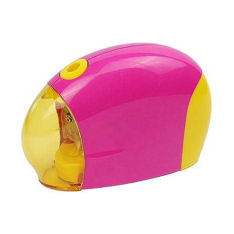 batería sacapuntas eléctrico portátil operado con tapa rosa ...