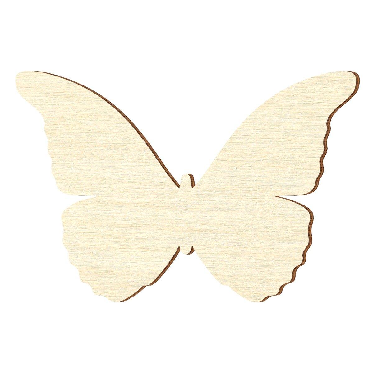 Bütic GmbH - Sagoma in compensato di pioppo a forma di farfalla, spessore: 3 mm, Compensato, Flügelspannweite 5cm