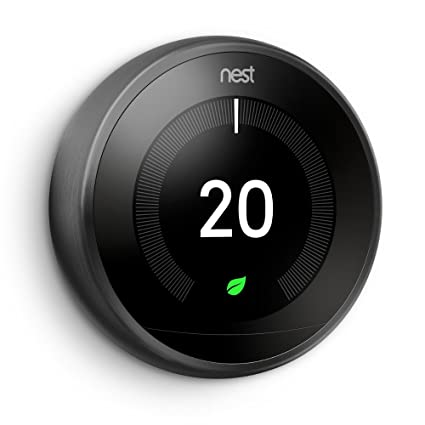Nido Learning termostato, 3ª generación, Negro, T3019GB