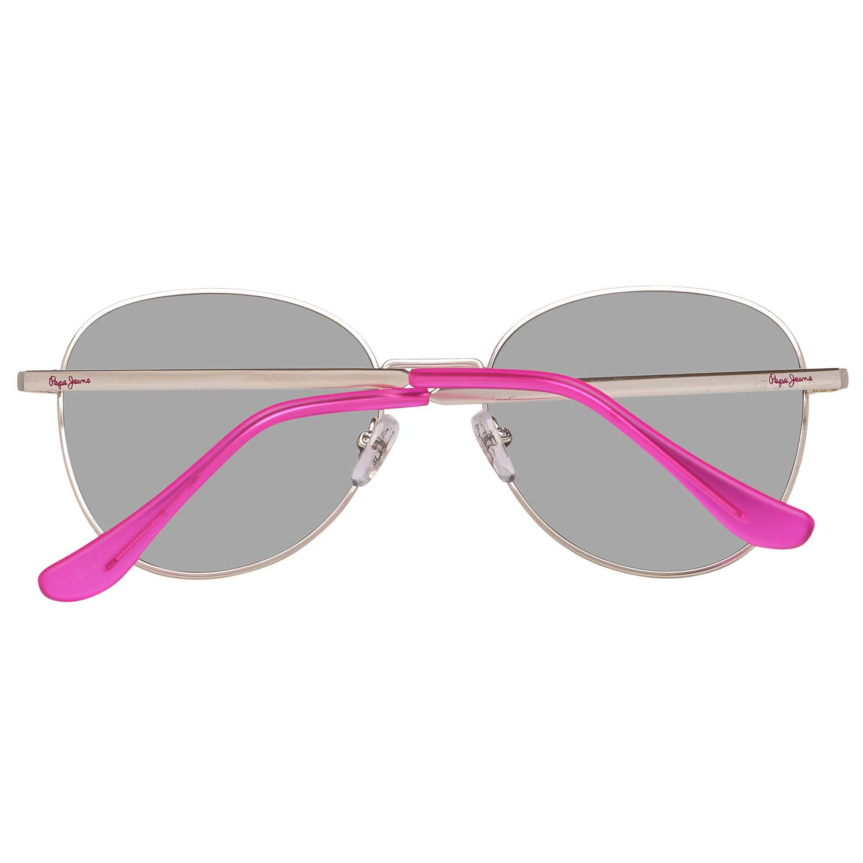 Pepe Jeans Damen Metall-Sonnenbrille Verspiegelt 100/% UVA /& UVB Oval-Stil Silber
