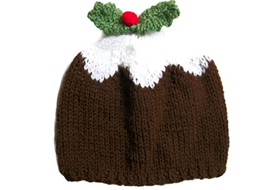 e742ff28e14 Xmas Pudding Hat Hand knitted beanie Baby Child Adult Handmade (0-6 month.