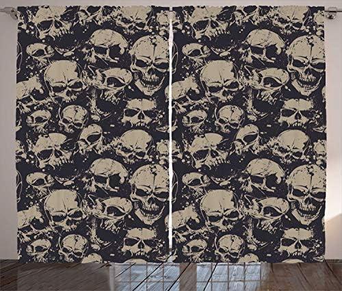 Ambesonne Skull Curtains