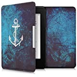 kwmobile Elegant synthetic leather case for the Amazon Kindle Paperwhite Anchor Map in white blue