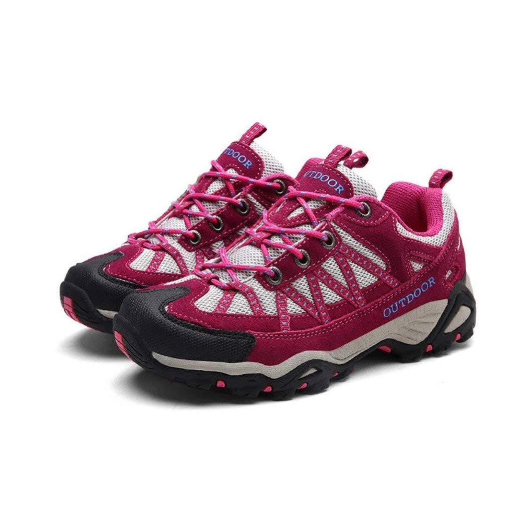 HhGold Damen Wanderschuhe Laufen im Freien Leichte Mesh-Trainer Atmungsaktive Trekking Kletterschuhe Lace-up Low Rise Schuhe für Fitness-Reisen (Farbe   B Größe   36) (Farbe   B Größe   37)