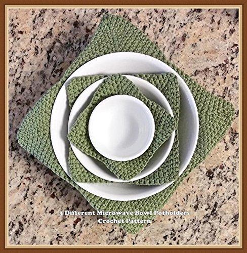 3 Different Microwave Bowl Potholders Crochet Pattern