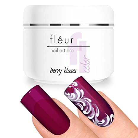 fléur Basic Color UV Gel Berry Kisses (vitrage) 5 G, libre de ácido