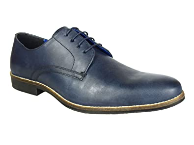 be9ea9a4cf7 Image Unavailable. Image not available for. Colour  Red Tape Shannon Navy  Mens Leather Formal Wedding Shoes